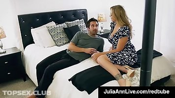 Horny guy gave a phone call to Julia Ann, because he wanted to fuck her
